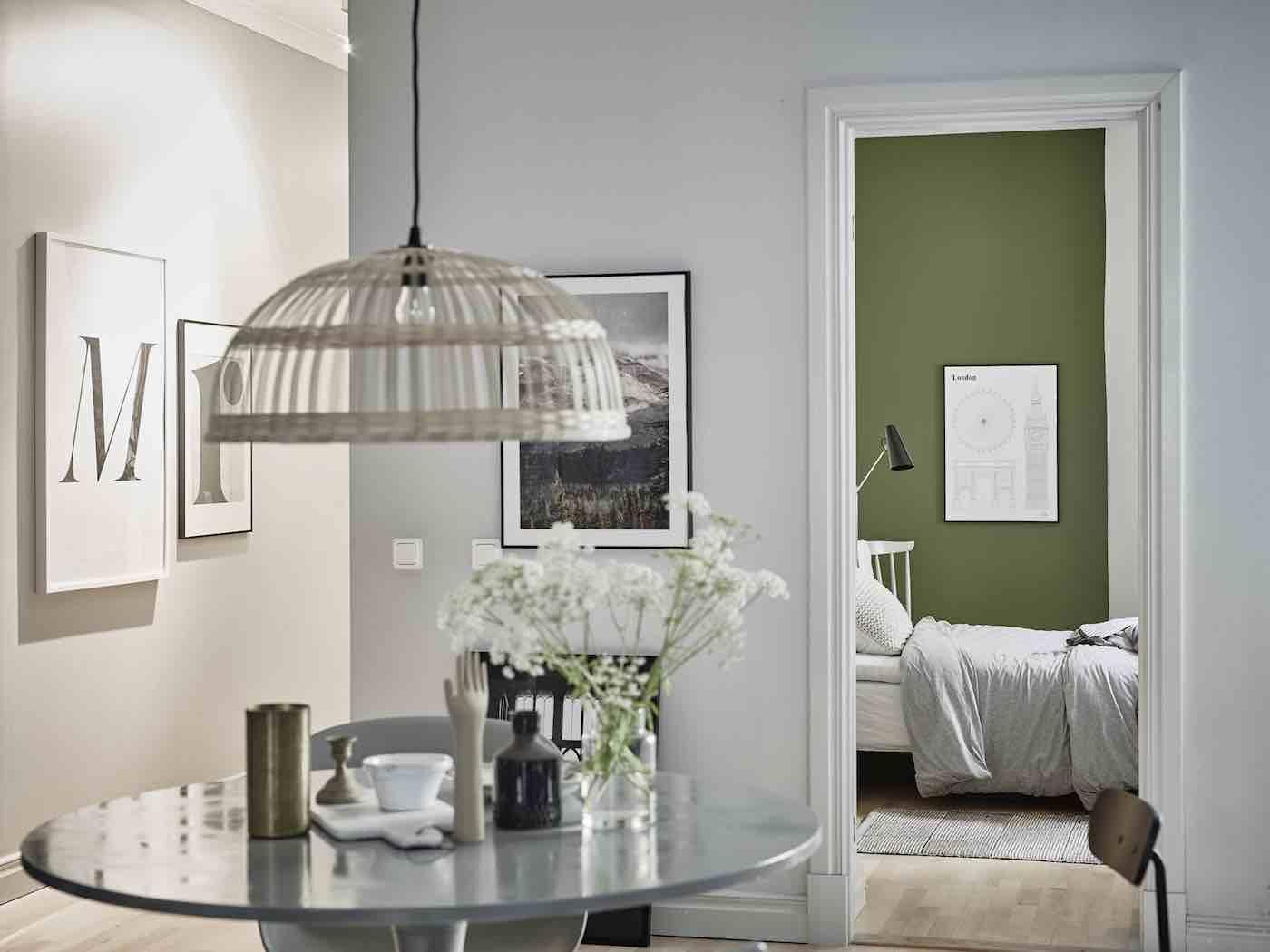 Schwedische Wohnung mit grünen Akzenten - Designs2love