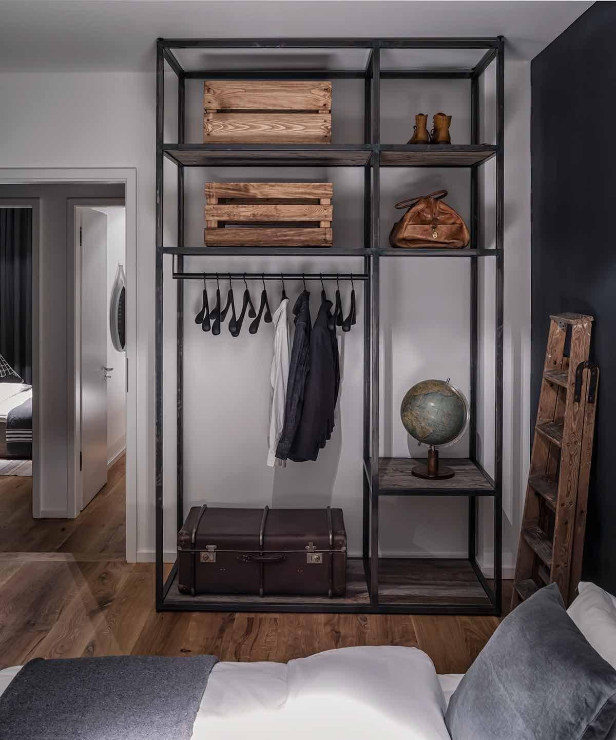 Schlafzimmer-Loft-Industrial