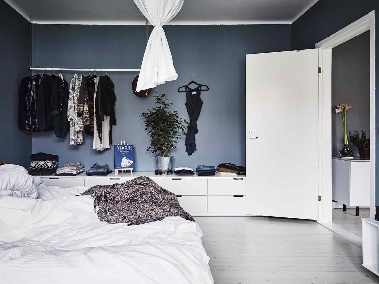 schlafzimmer kommode modern blau