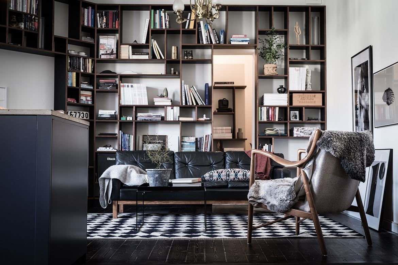 Modernes Bücherregal Wohnzimmer