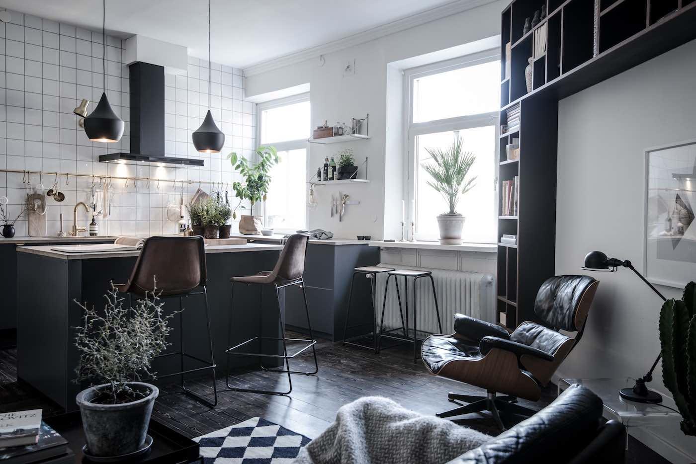 Extrem Design-Wohnung mit schwarzen Akzenten - Designs2love GY88